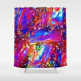 Jewel Tone Gemstone Impressions Shower Curtain