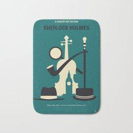 No555 My Sherlock Holmes minimal movie poster Bath Mat
