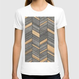 Abstract Chevron Pattern - Concrete and Wood T-shirt