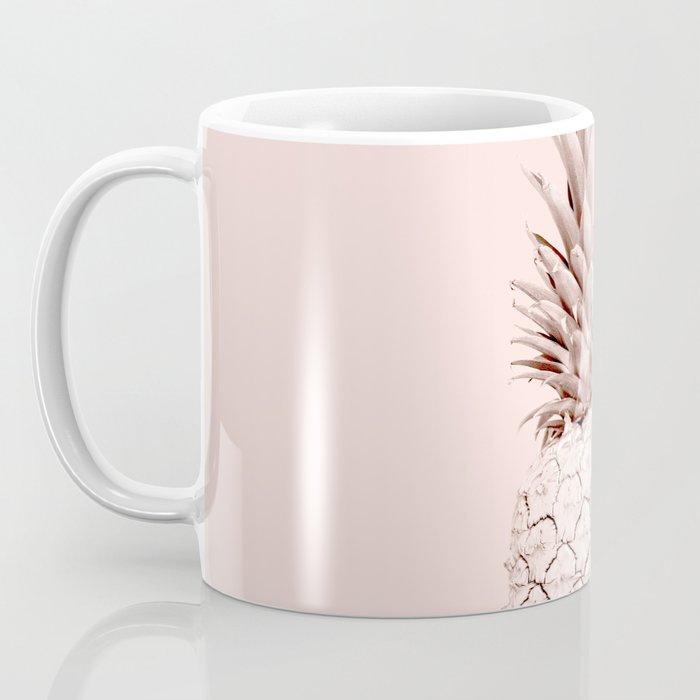 Rose Gold Pineapple on Blush Pink Coffee Mug