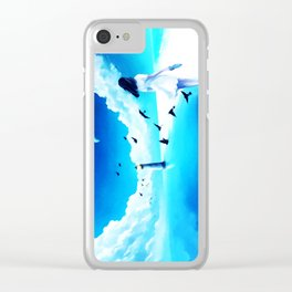 Lighthouse At The Sea Clear iPhone Case