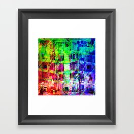 Across the street crossing in a myriad of manners. [RGB] Framed Art Print