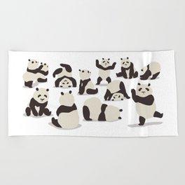 Pandas Party Beach Towel