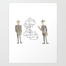 Watson & Crick Art Print