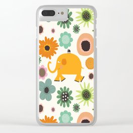Best friends - Fabric pattern Clear iPhone Case
