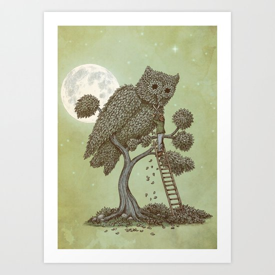 The Night Gardener (Colour Option) Art Print