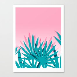 Dissed - memphis retro vintage neon pink pastel ombre trendy girl gift for hipster urban beach goer Canvas Print
