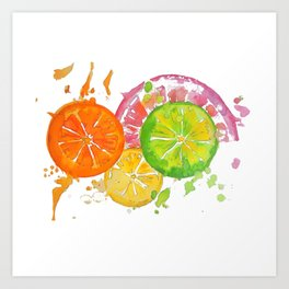 Citrus Burst! Art Print