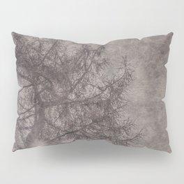 Textured backlit larch tree Pillow Sham