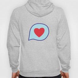 Valentine heart text balloon Hoody
