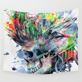 COLORFUL SKULL Wall Tapestry