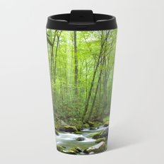 Spring Forest Stream Metal Travel Mug