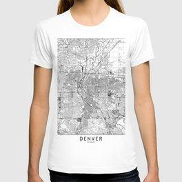 Denver White Map T-shirt