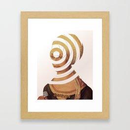 Dürer, die Frau die 20DM und der Kreis der Erinnerung Framed Art Print