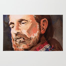 Willie Nelson Acrylic Painting Rug