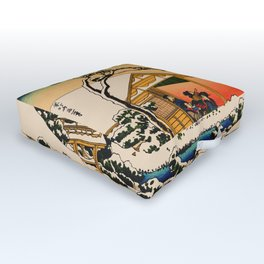 Snow at Koishikawa - Vintage Japanese Art Outdoor Floor Cushion
