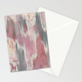 Light Pink and Green Acrylic Abstract 1 of 2 Stationery Cards