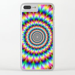 Trippy Stoner Clear iPhone Case