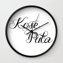 Kose Puta Wall Clock