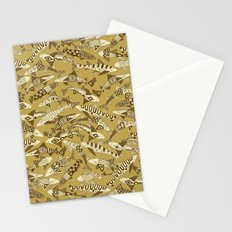 shark party gold Stationery Cards