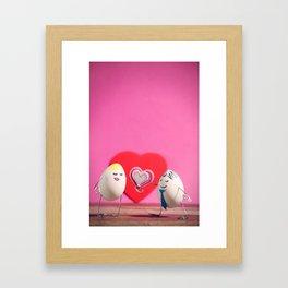 Have an Egg-cellent Valentne's Day! Framed Art Print