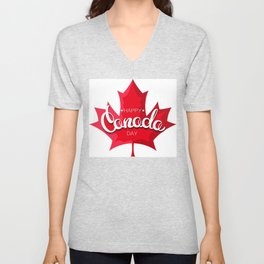 Happy Canada Day Unisex V-Neck