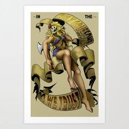 Beauty & Psycho Art Print