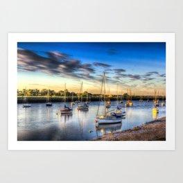 River at Sunset Art Print