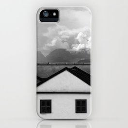Geometric Architecture in Black and White iPhone Case
