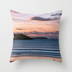 Polzeath Sunset Throw Pillow