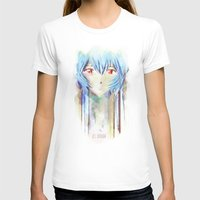 evangelion T-shirts featuring Rei Ayanami from Evangelion Digital Mixed Media by Barrett Biggers