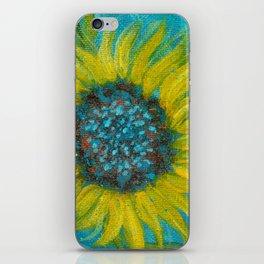Sunflowers on Turquoise II iPhone Skin