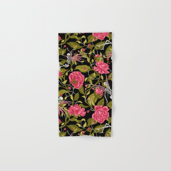 Death of Summer (black and rose) Hand & Bath Towel
