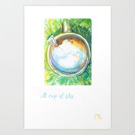 A Cup Of Sky Art Print