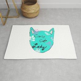 Crazy Cat Lady - Teal Rug