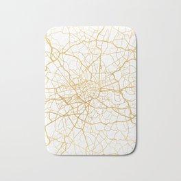 LONDON ENGLAND CITY STREET MAP ART Bath Mat