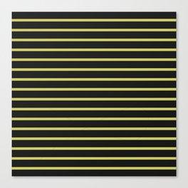 Black & Yellow Stripes Canvas Print