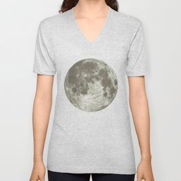 The Moon  Unisex V-Neck