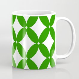 Abstract pattern - green and white. Coffee Mug