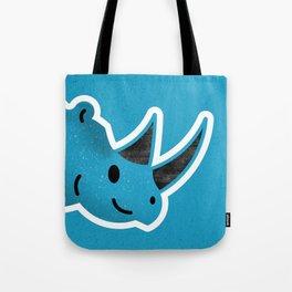 Happy Blue Rhino Tote Bag