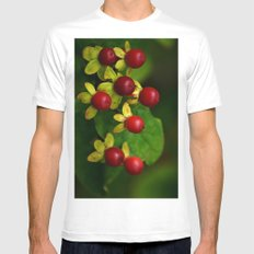 Berry Good! White Mens Fitted Tee MEDIUM