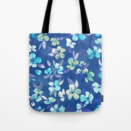 Grown Up Betty - blue watercolor floral Tote Bag