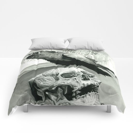 skull & raven Comforters
