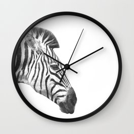 Black and White Zebra Profile Wall Clock