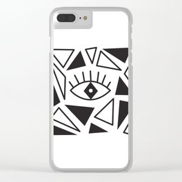 Evil Eye Triangles Clear iPhone Case