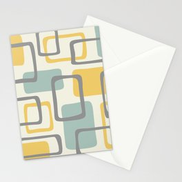Mid Century Modern Abstract Squares Pattern 453 Stationery Cards