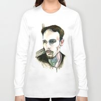 depression Long Sleeve T-shirts featuring Portrait of Depression by ArtbyLumi