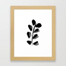 Black Fern Framed Art Print
