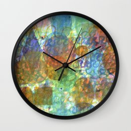 Bubbling Geometric Forms over Curved Lines  Wall Clock