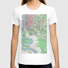 Vintage Map of Baton Rouge Louisiana (1963) T-shirt